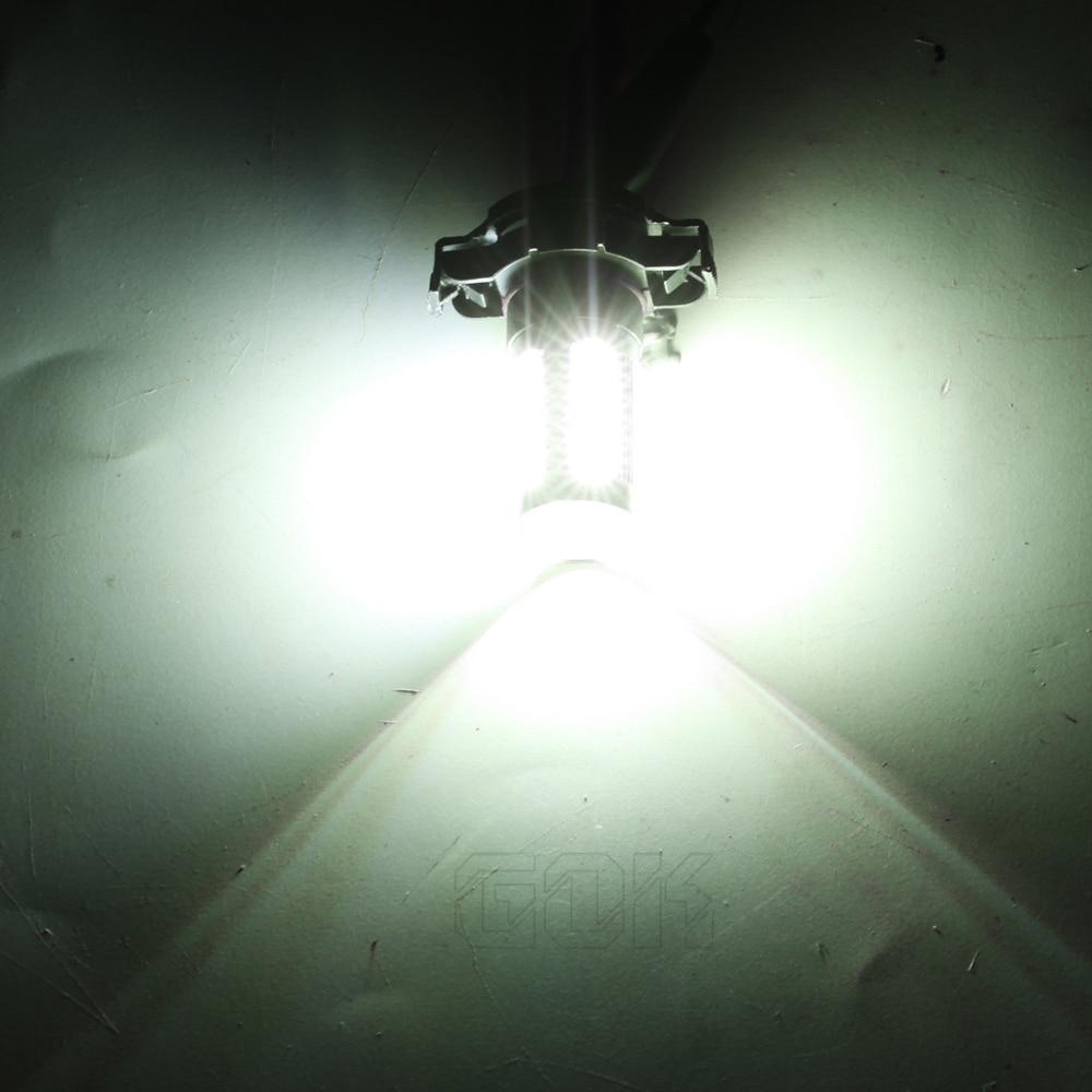2 buc super alb Lampa cu ceață led auto H11 H16 33smd 5730 lumină - Faruri auto - Fotografie 2