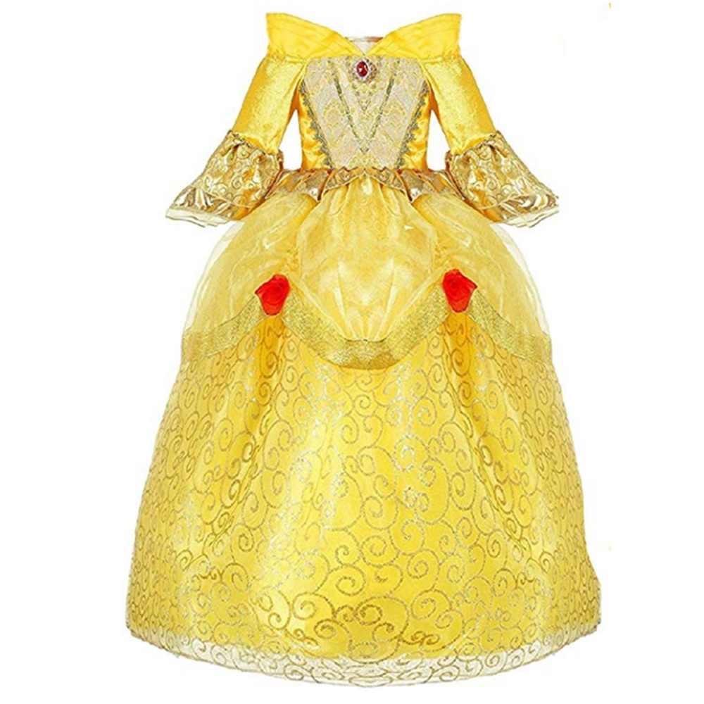 7b1b305afbc0 Detail Feedback Questions about Belle Princess Cosplay Girls Dress ...
