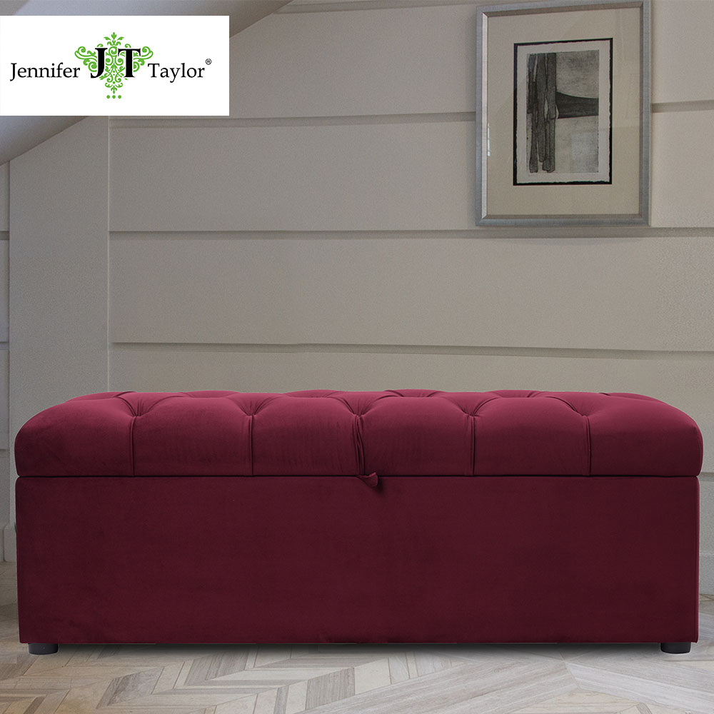 Wondrous Jennifer Taylor Home Tufted Storage Bench Velvet Hand Gamerscity Chair Design For Home Gamerscityorg