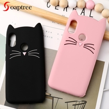 Soaptree 3D Cute Silicone Case For Xiaomi Redmi 6 Pro Cases Cartoon Beard Cat Soft Cover Mi A2 Lite Protective Bumper
