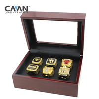 6 Pcs Set Charms Sports Jewelry That Bulls Basketball Replica Championship Ring Set For Men Fine