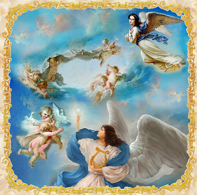 Compare prices on angel mural online shopping buy low for Cost of a mural