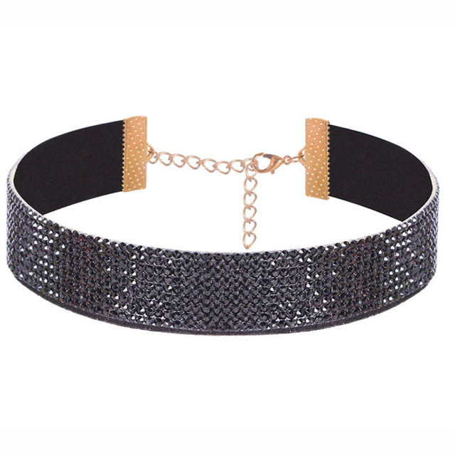 Choker Necklace Gothic Rhinestone Jewelry