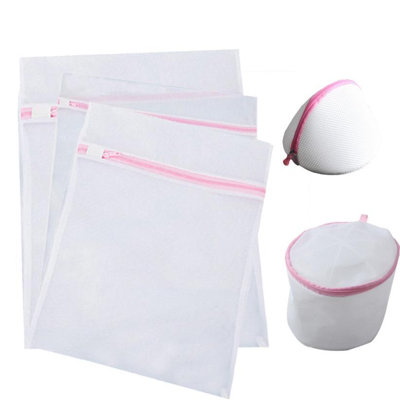 5PCS Delicates Laundry Bags Bra lingerie Protection Washing Drying BagWashing Bags Jun2