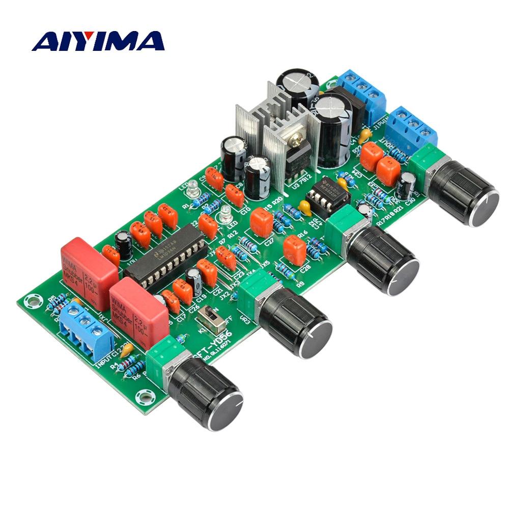 AIYIMA Amplifiers Audio Amplificador Pre-amp Board LM1036 N+NE5532 Preamplifier Front-end Fever Tone Board