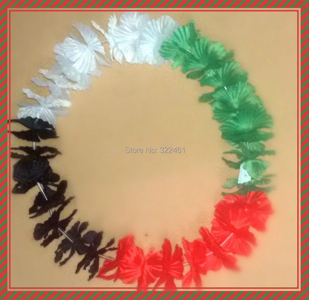 12 Counts Tropical Hawaiian Leis And Necklace Luau Flower Party