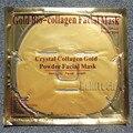 1 PCS Ouro Bio-Colágeno Cristal Ouro Em Pó Colágeno Máscara Facial Rosto Cuidados Máscara Hidratante Anti-envelhecimento