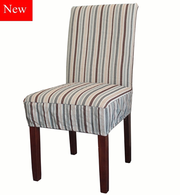 Envío gratis raya clásica tela de Chenille silla de comedor cubierta ...