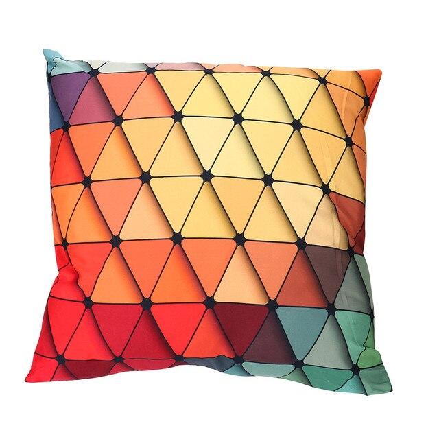 Creativo Stampato Cuscino Custodie Poliestere Colorato Geometria Cotone Morbido