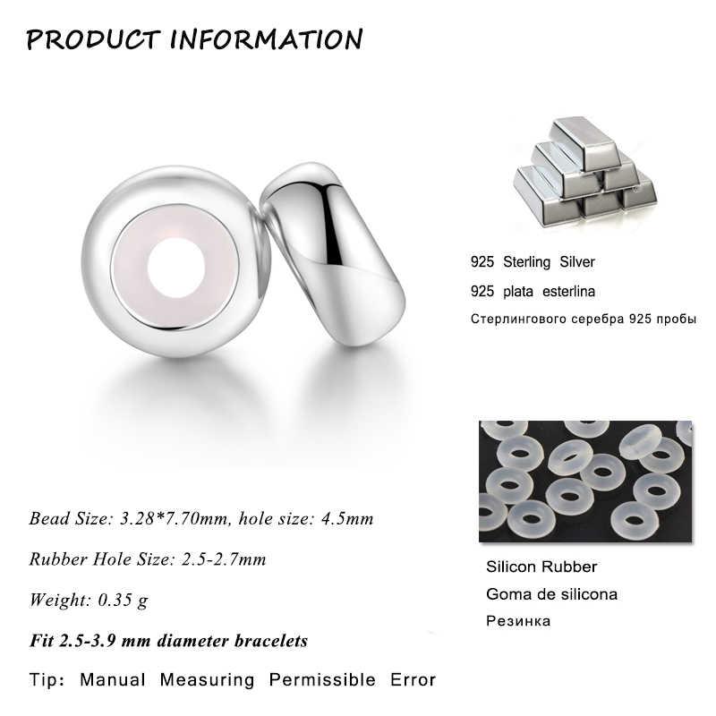 Силиконовые бусины с пробкой GW, серебро 925 пробы, подходят для аутентичных шармов Pandora, серебро 925 пробы, оригинальные шармы для браслетов, для изготовления ювелирных изделий