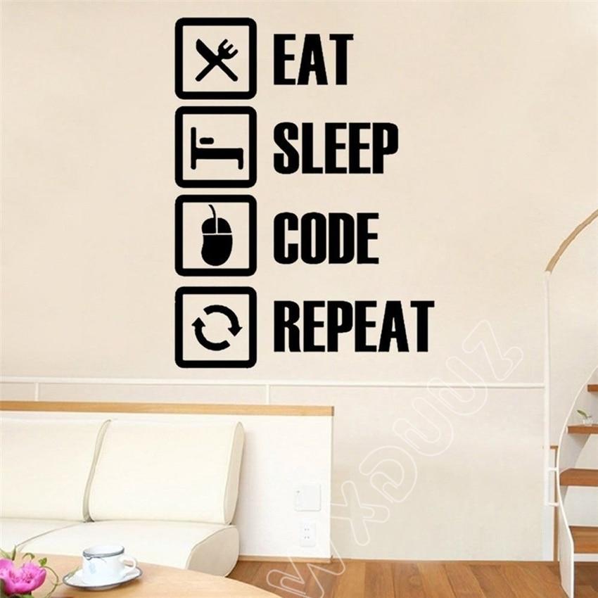 WXDUUZ Computer Geek Programmer Gift Wall Decal Engineering Student Dorm Office Wall Sticker Room Home Decor Wall Decals B298