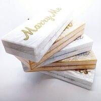 Персонализированные собственное имя пользовательские акрил сцепления свадебный клатч вечерняя сумочка сцепления сумка перламутр Акрилов