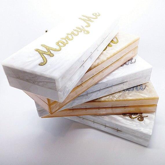 Personnalisé Propre Nom Personnalisé Acrylique D'embrayage De Mariée d'embrayage de Soirée d'embrayage Sac À Main Épaule Sac Mère Perle Acrylique Bourse D'embrayage