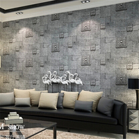 3D Wallpaper For Wall 3d Deep Embossed Brick Wall Paper Roll Home Decoration Wallcovering Papel De