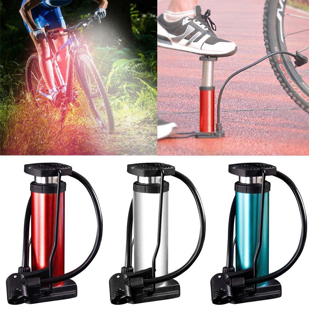 Aluminum Bicycle Bike Tyre Tire Air Inflator Pump Manometer With Pressure