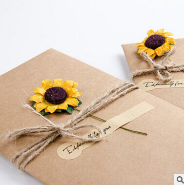 5003 7x10.5cm DIY Sunflower Rose Greeting Cards Word Message Wishes Cards Kids Gift DIY Craft Cards Birthday Cards 30pcs in one postcard take a walk on the go dubai arab emirates christmas postcards greeting birthday message cards 10 2x14 2cm