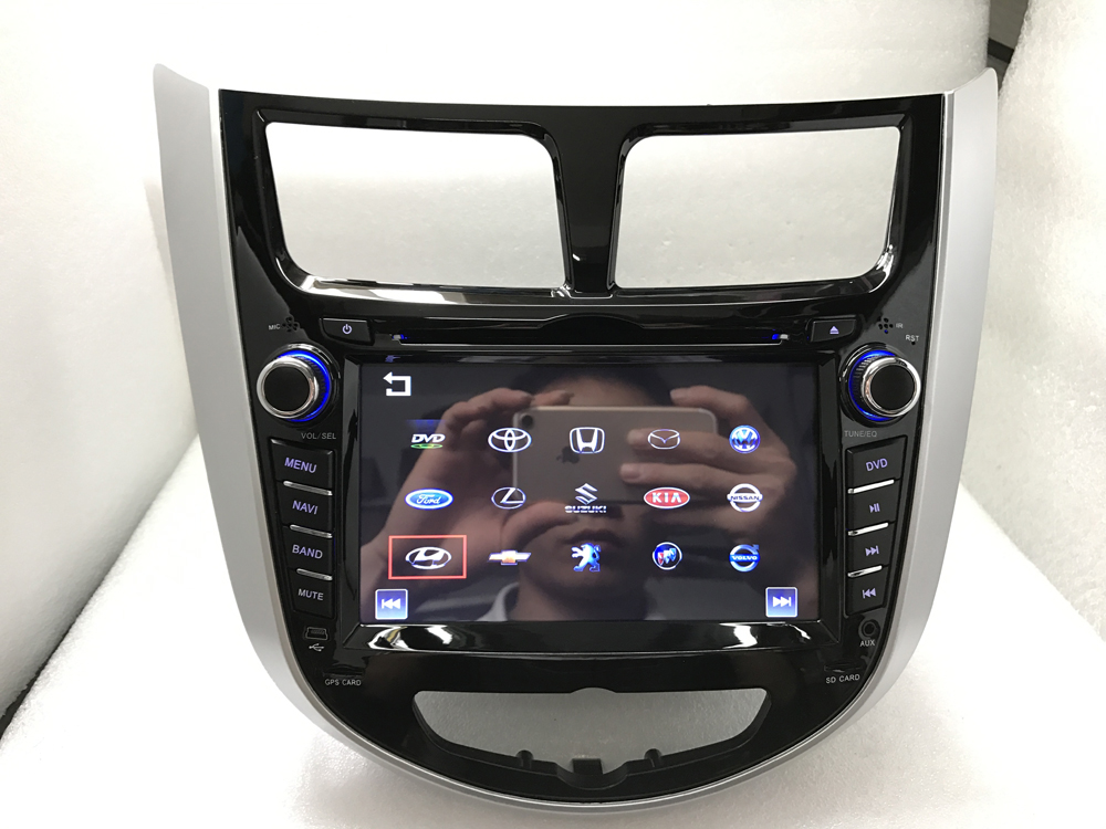 BYNCG 2 din CAR DVD player for Hyundai Solaris accent Verna i25 with radio GPS navigation Bluetooth USB MAP camera image