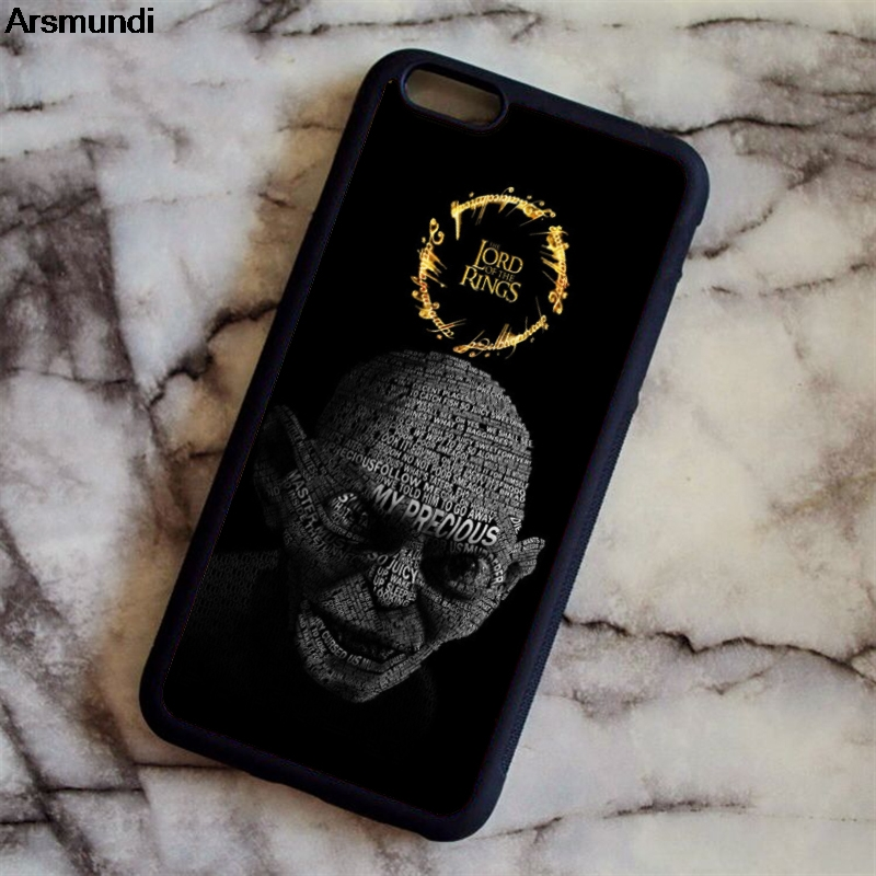 Arsmundi The Lord of the Rings Hobbit Gollum Phone Cases for iPhone 4S 5S 6S 7 8 X for Samsung Case Soft TPU Rubber Silicone Hot