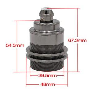 Image 5 - 2 metros eu plug de cabo de energia com dimmer interruptor e27, vintage latão suporte de lâmpada kits de lâmpada