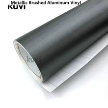 Хорошее качество серый металлик матовый Алюминий винила металлический винил автомобиля Обёрточная бумага пленка для укладки для автомобильной и Motorcycl интерьера наклейки