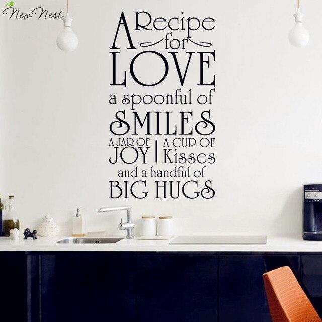 Envío libre una receta para cocina amor vinilo etiqueta de la pared ...