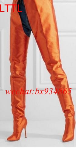 Popular Orange Knee High Boots-Buy Cheap Orange Knee High Boots ...
