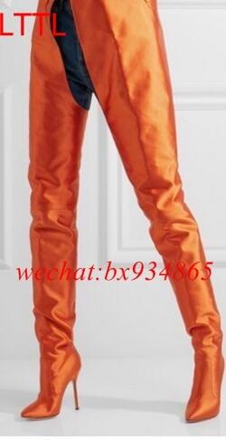 Popular Orange Knee High Boots-Buy Cheap Orange Knee High Boots ...