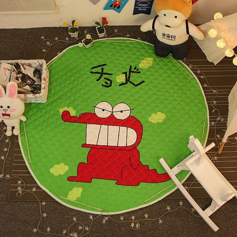 Tapis de sol Dia pour chambre d'enfants. 150 cm rond bébé tapis de jeu bébé filles garçons ramper tapis jouet organisateur de stockage pochette sacs