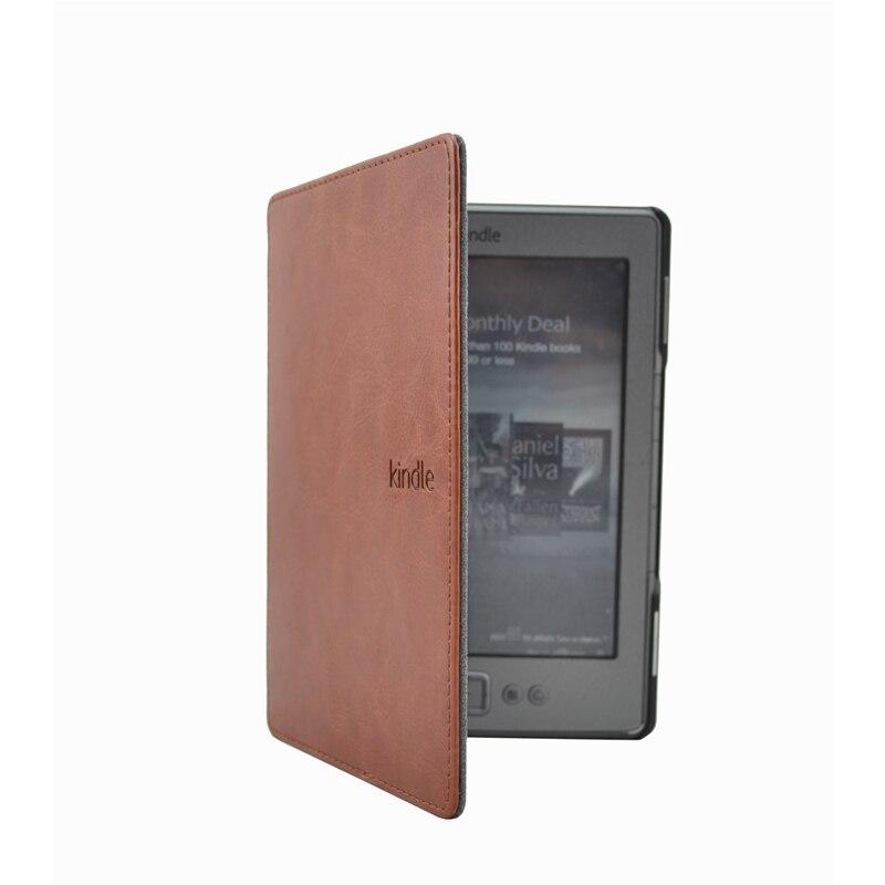 >Fashion magnetic Smart case for Amazon kindle <font><b>4</b></font> Kindle 5 <font><b>4</b></font>/5rd generation cover pu leather Stand Sleep /wake 6'' e-reader case