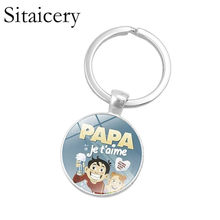 Saitaisery Super Papa Keychain Family Member Gifts For Men Father's Day Series The Best Daddy Car Key Chain Ring Accessories(China)