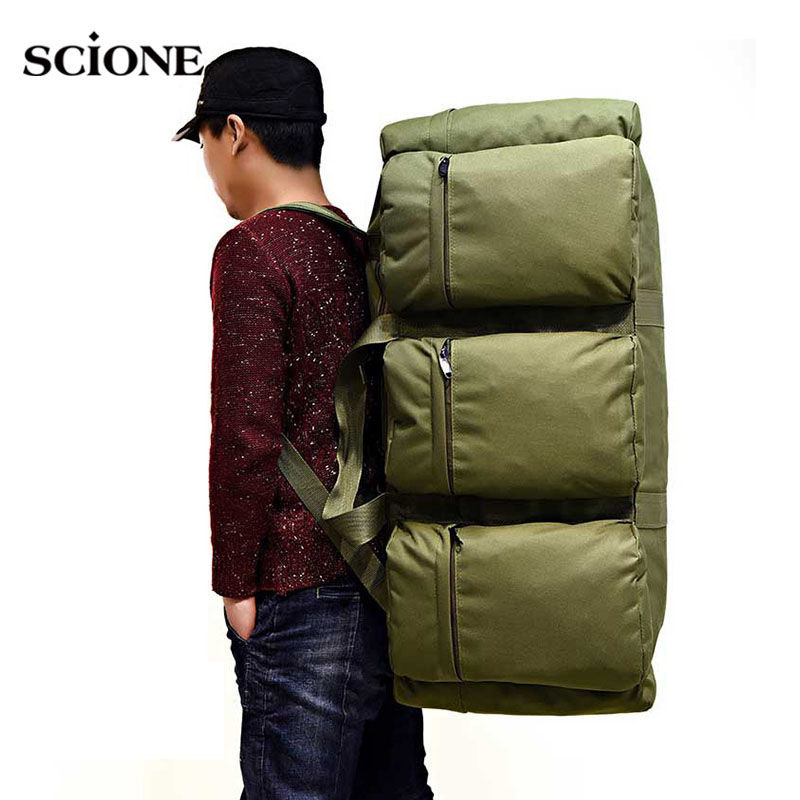 Scione 90L Camping Backpack Tactical Military Rucksack Large Waterproof Luggage Backpacks Camouflage Outdoor Shoulder Bag A280WA new arrival 38l military tactical backpack 500d molle rucksacks outdoor sport camping trekking bag backpacks cl5 0070