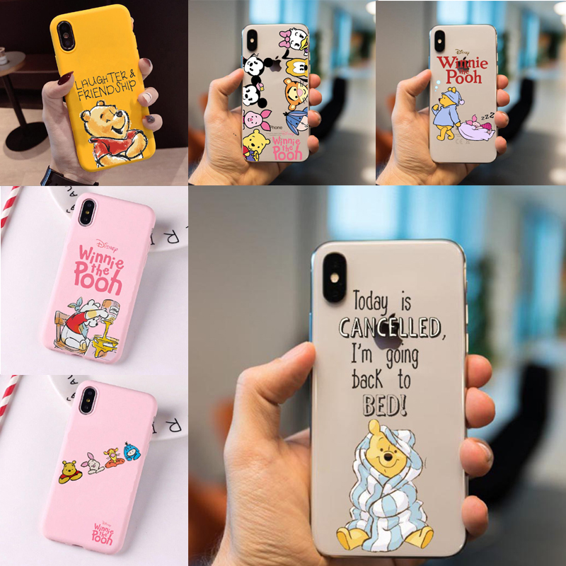 Cartoon Donald Daisy Duck Minnie Mickey Mouse Phone Case For iPhone  6S7 8 Plus XS MAX  Winnie Pooh Soft TPU Silicon Back Cover winnie the pooh iphone case