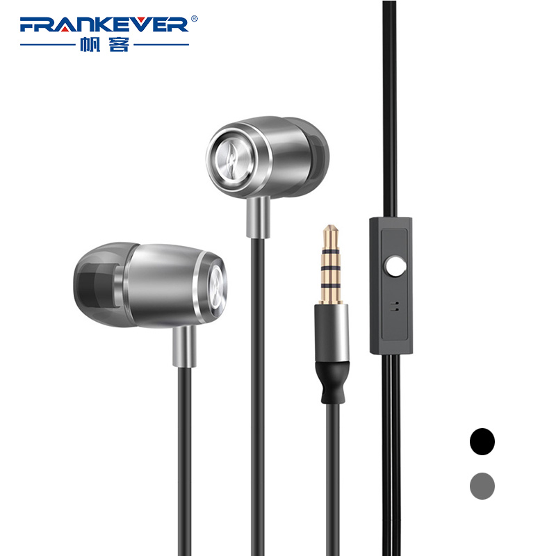 FrankEver Stereo In-ear Earbuds Super Bass Earphone with HD Microphone Earphones for Smartphone mobile phone fone de ouvido uiisii hi905 professional hifi in ear earphone super bass stereo music headset with microphone fone de ouvido for mobile phone