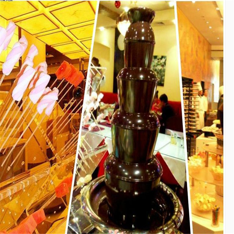 220V/110V 5 Layers Electric Commercial Electric Chocolate Fountain Machine Chocolate Waterfall Machine EU/AU/UK/US Plug цена