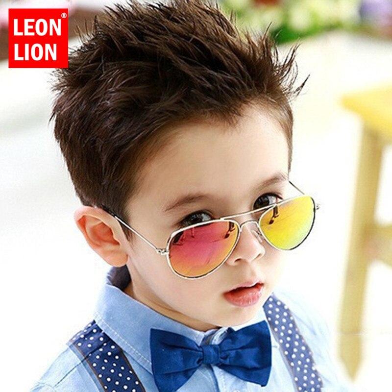 LeonLion 2019 Classic Fashion Sunglasses Girls/Boys Colorful Mirror Children Glasses Metal Frame Kids Outdoor Travel Eyeglasses