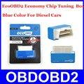 Plug & Drive OBD2 Cor Azul EcoOBD2 Economia Eco Caixa De Chip Tuning Para Carros A Diesel OBD2 Desempenho 15% De Combustível Salvar frete Grátis