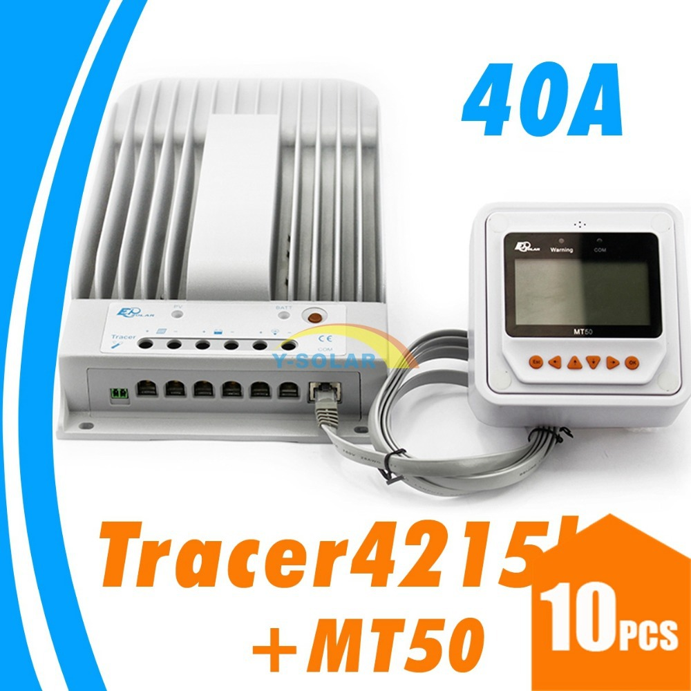 40A solar charge controller MPPT 12V 24V auto WORK solar regulator Flooded GEL Battery option LCD MPPT remote meter MT-50 MT 50 tracer mppt 30a solar charge controller lcd12 24v solar panel solar regulator epsolar gel battery option with remote meter mt50