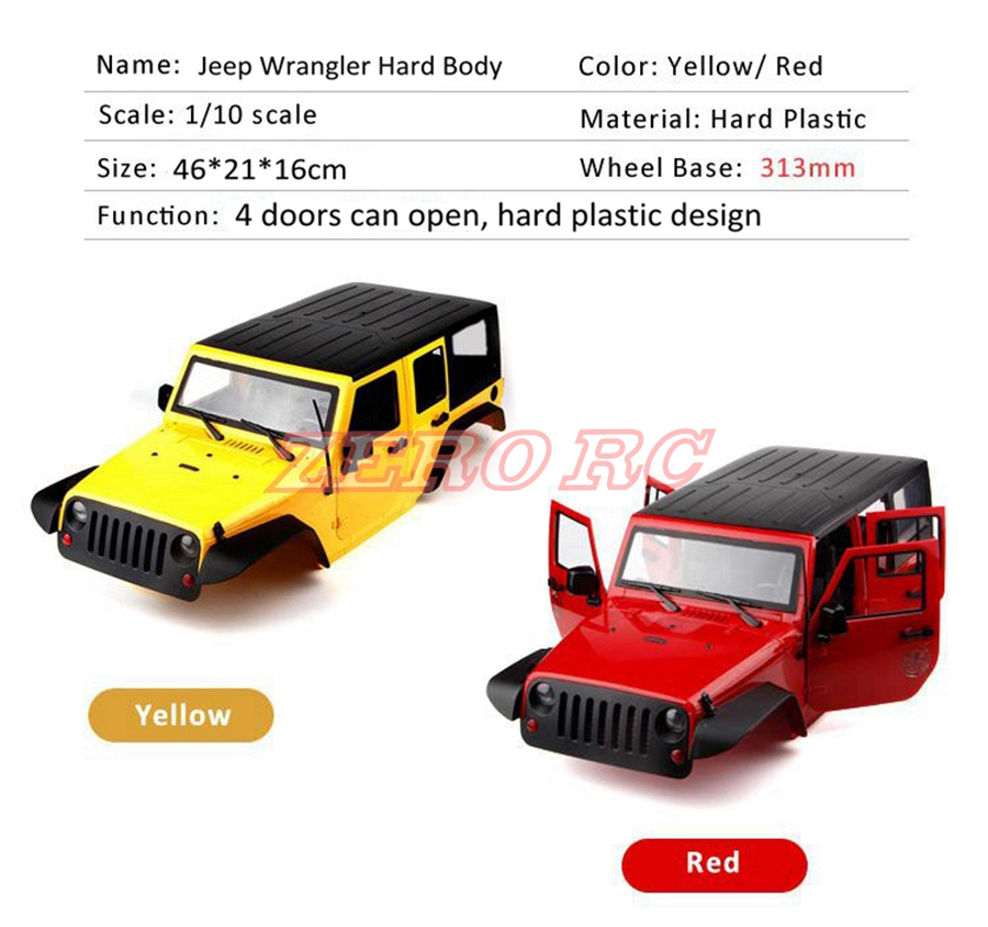 1 10 Rc Truck Hard Body Shell Canopy Rubicon Topless For: Popular 1 10 Scale Rc Jeep Bodies-Buy Cheap 1 10 Scale Rc
