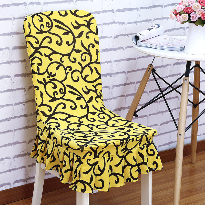 Modern Removable Colorful Pattern Dining Room Chair Covers Spandex Home Hotel