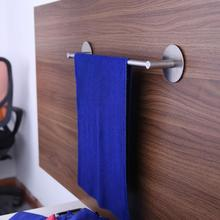 Stainless Steel Cabinet Cupboard Door Hanging Rack shelf Towel Bar Holder scouring pad holder Bathroom Kitchen