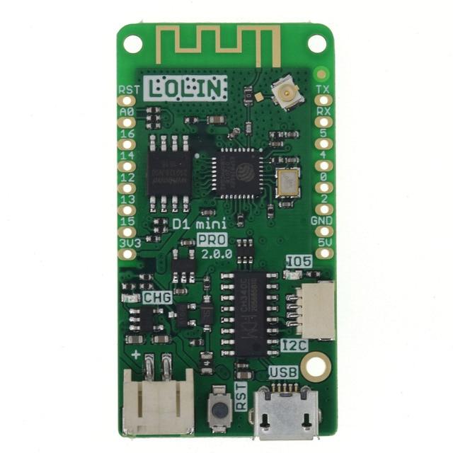 LOLIN D1 mini Pro V2.0.0 - WIFI IOT development board based ESP8266 16MB external antenna MicroPython Nodemcu Arduino Compatible