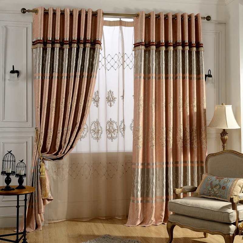 window curtains for living room מוצר european embroidered blackout curtains for living 18469