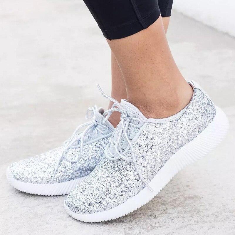 מפעל ישיר נשים דירות בלינג רסיס Glod נשים סניקרס 2019 חדש סל Chaussures Femme בתוספת גודל שטוח נשים נעליים יומיומיות