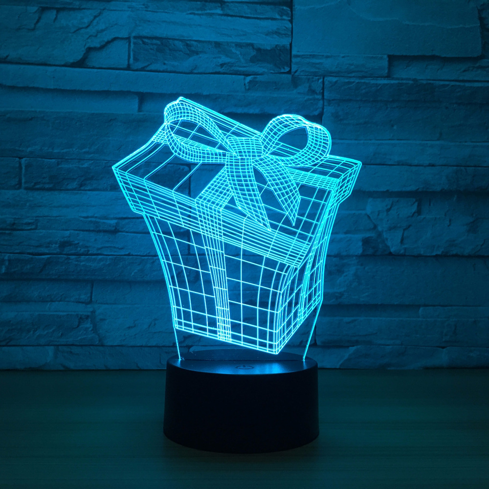 Gift Box 3d Lamp 7 Color Led Night Lamps For Kids Touch Led Usb Table Lampara Lampe Baby Sleeping Nightlight Drop Shipping Lamp
