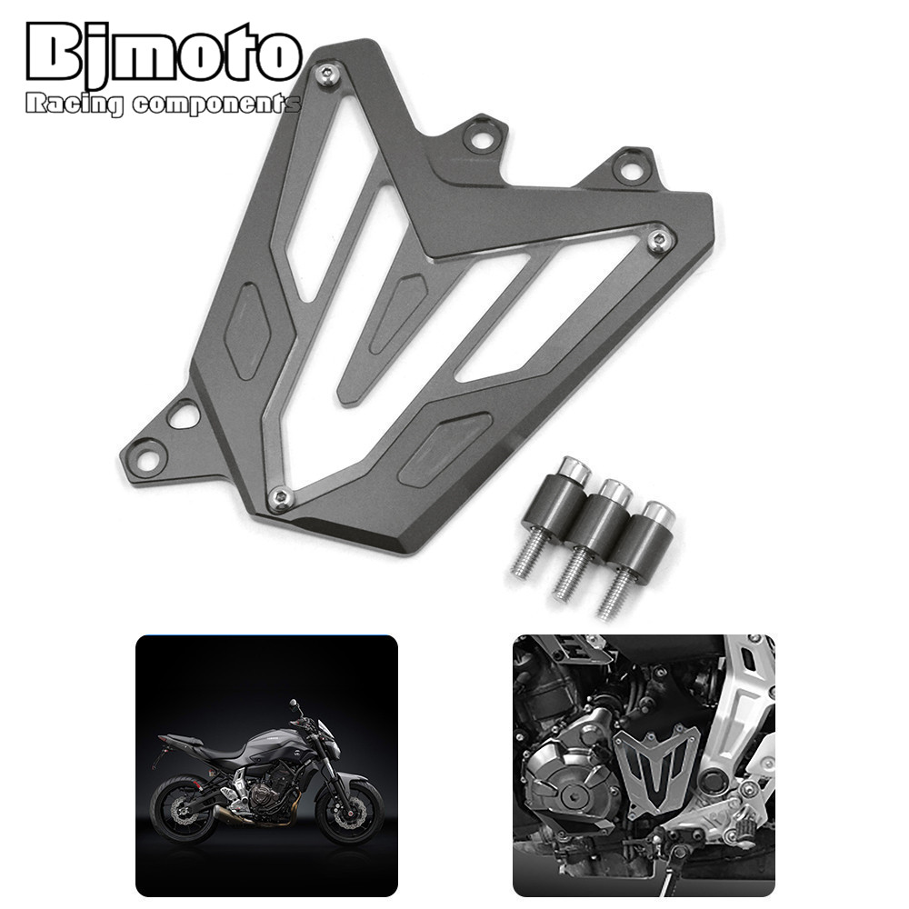 Bjmoto For Yamaha MT-07 2013 2014 2015 2016 2017 FZ-07 2015-2017 Motorcycle motocross MT07 FZ07 Aluminum Front Guard Chain Cover motoo cnc aluminum rear tire hugger fender mudguard chain guard cover for yamaha mt07 mt 07 2013 2017 fz07 2015 2017