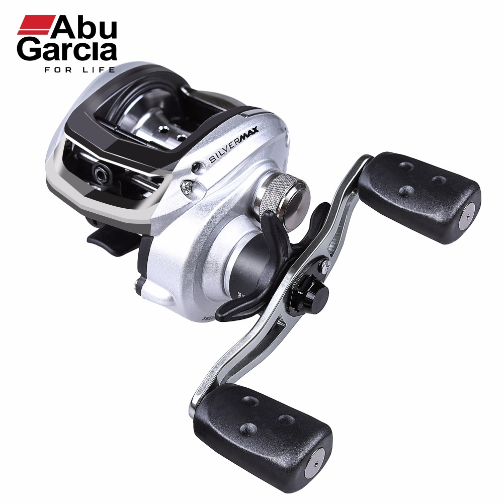 100% ABU GARCIA SILVER MAX 3 Baitcasting Fishing Reel 6.4:1 Right Left Hand Bait Casting Fishing Reel  SILVER MAX LOW PROFILE 12 1bb 6 3 1 left right hand casting fishing reel cnc fishing reels carp bait baitcasting carretilha de pesca molinete shimano