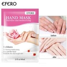 efero 2pcs=1pair Exfoliating Hand Mask Wax Peel Hand Scrub M