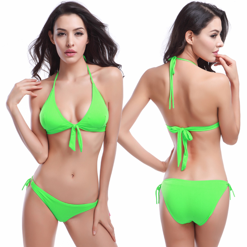 2016 New Sexy Top Removable padding Bandage 2016 Women Crochet Bikini Design Bandage Bikinis set