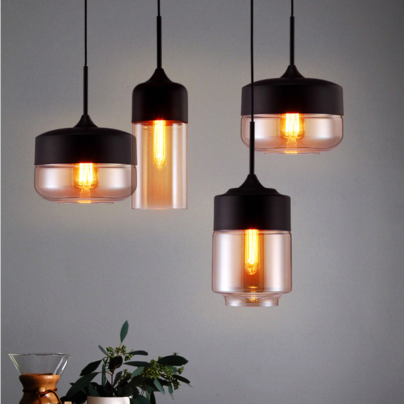 Modern Glass Pendant Lights European Retro Hanging Lamp Home Indoor Lighting Fixture Droplight Dining Room Restaurant Bar Lamps rectangular dining room pendant lights european style led crystal pendant lights modern restaurant lamp bar cafe creative lamps