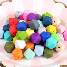 hot deal buy tyry.hu 10pc 14mm hexagon silicone beads for diy baby teething necklace accessories food grade silicone teether toy pendant gift